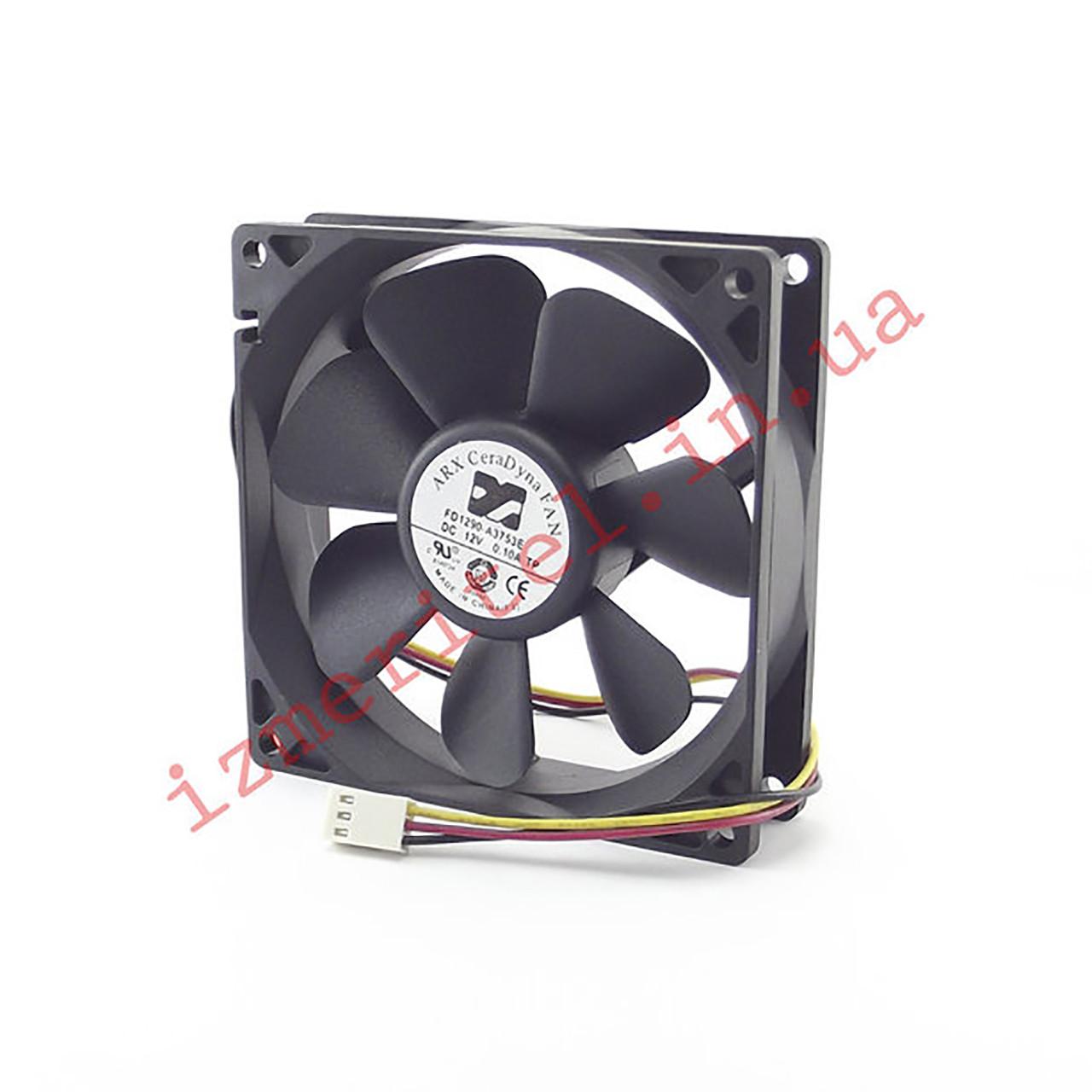 Вентилятор 90х90х25мм 12В (2 провода)