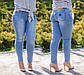 """Женские стильные джинсы в больших размерах """"13207"""", фото 2"""