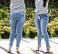 """Женские стильные джинсы в больших размерах """"13207"""", фото 7"""