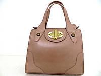 Шикарная женская сумка 100% нат.кожа Италия  Бежевый