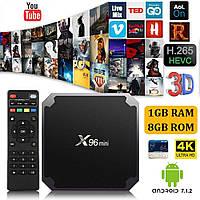 X96 Android TV Box Mini медиаплеер Smart TV приставка 16 ГБ