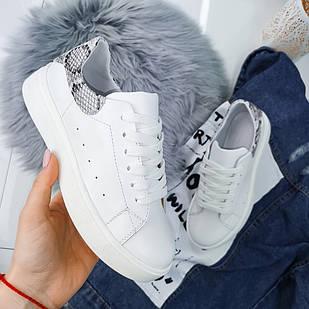 Женские кроссовки белого цвета, натуральная кожа (в наличии и под заказ)