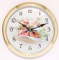 Часы настольно-настенные с цветами ( 200 мм )
