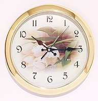 Часы настенные с цветами ( 200 мм )