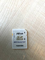 Карта памяти Toshiba SDHC 16GB class 10 б/у в идельном состоянии