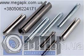 Штифт пружинный цилиндрический разрезной DIN 1481, ГОСТ 14229-93