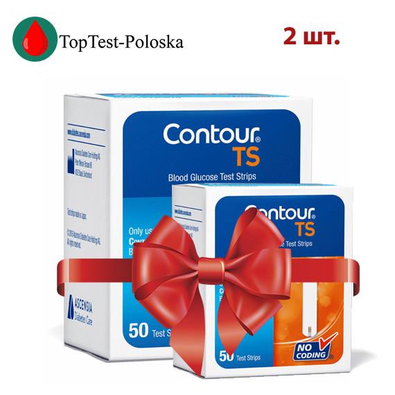 Тест-полоски  Contour TS №50 2 упаковки (Контур ТС)