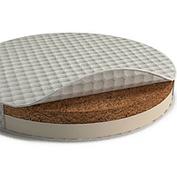 Матрац на люльку SMARTBED OVAL (розмір 60х71) наповнювач кокос+латекс, фото 1