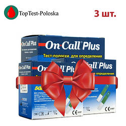 Тест-полоски  On Call Plus 50 3 упаковки