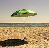 Зонт диаметром 2 м. Система ромашка. Серебренное покрытие. Зелёный