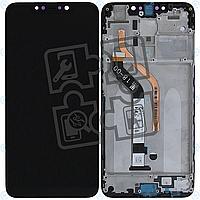 Дисплей для Xiaomi Pocophone F1 (M1805E10A), модуль в зборі (екран і сенсор), з рамкою, чорний, оригінал