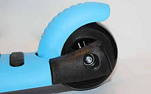 Самокат с наклоном руля Micro Mini с сиденьем 3 в 1 голубой (колеса светящиеся), фото 2