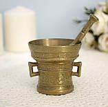 Стара бронзова ступка, ступка для спецій, з товкачиком, бронза, Німеччина, фото 10
