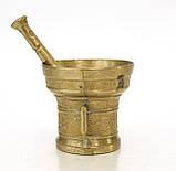 Стара бронзова ступка, ступка для спецій, з товкачиком, бронза, Німеччина, фото 3