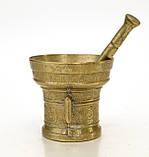Стара бронзова ступка, ступка для спецій, з товкачиком, бронза, Німеччина, фото 5