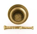 Стара бронзова ступка, ступка для спецій, з товкачиком, бронза, Німеччина, фото 8