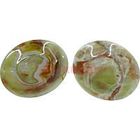 Тарелка из натурального камня оникса