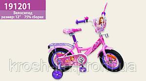 Велосипед 2-х колёсный Принцесса София Китай розовый 191201