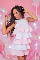 """Стильне плаття міні """" Рюш """" Angelo Style, фото 1"""