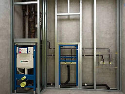 Инсталляционная система для подвесного унитаз Geberit Геберит 458.126.00.1 4 в 1 с клавишей хром, фото 3