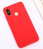 Бампер чехол софт тач матовый Красный Xiaomi Redmi Note 6 Pro