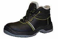 """Зимние рабочие ботинки на меху """" CEMTO"""" с металлическим носком и светоотражающей полосой"""