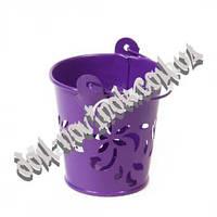 Ведро металлическое фиолетовое (маленькое)