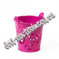 Ведро металлическое розовое (маленькое)