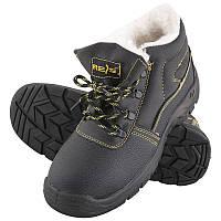 Ботинки рабочие на меху REIS с металлмческим носком МБС Польша категория OB E FO SRC;