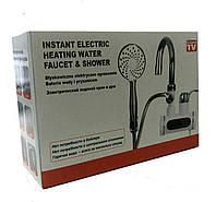 Проточный мгновенный водонагреватель Originalsize электрический на кран смеситель 3Kw С душем