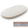 Овальный  матрас на кроватку SMARTBED MAXI - 80Х140 кокос+флексовойлок