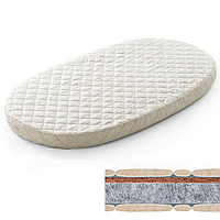 Овальный  матрас на кроватку SMARTBED MAXI - 80Х140 кокос+флексовойлок, фото 1