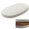 Овальный  матрас на кроватку SMARTBED MAXI - 80Х140 кокосовая койра+латекс