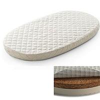 Овальный  матрас на кроватку SMARTBED MAXI - 80Х140 кокосовая койра+латекс, фото 1