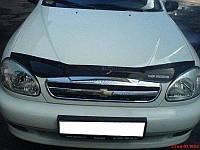 Дефлектор капота для Chevrolet Lanos / Sens '05-, черный SIM VIP Tuning