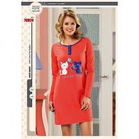 """Платье для дома и отдыха, ночная сорочка (рубашка) hmd 70024 """"Котята"""""""