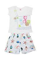 Комплект (шорты и футболка)ТМ Baby pink 90388 белый цвет (92)