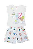 Комплект (шорты и футболка)ТМ Baby pink 90388 белый цвет (104)