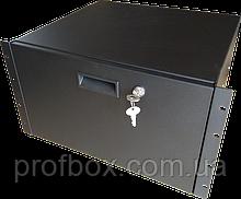 Корпус металевий Rack 6U, модель MB-6400RD (Ш483(432) Г400 В264 чорний, RAL9005(Black textured)