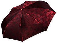 Жіночий парасольку Три Слона Бордовий жаккард ( повний автомат ) арт. L3812-3