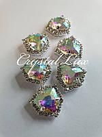 Triangle 16*16mm Crystal AB в цапах