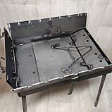 Мангал 3 мм раскладной с столиком на 7 шампуров, фото 7