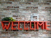 "Поличка з натурального дерева ""WELCOME RED"" (Полочка из натурального дерева ""WELCOME RED "")"