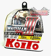 Автолампы Koito WhiteBeam III ☄ 4000K ✔ H8 ✔ 2шт.