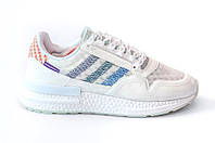 Кроссовки Adidas Consortium ZX 500 RM Commonwealth White with blue Белые с синим, фото 1