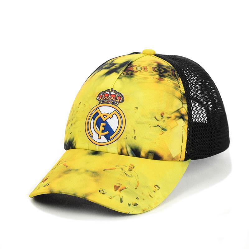 """Бейсболка """"Real Madrid"""" з чорною сіткою"""