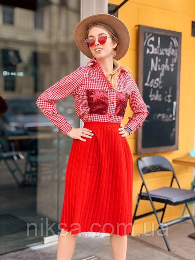 Рубашка, карман двусторонняя паетка, разные цвета