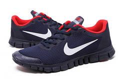Кросівки чоловічі Nike free run 3.0 синьо-червоні