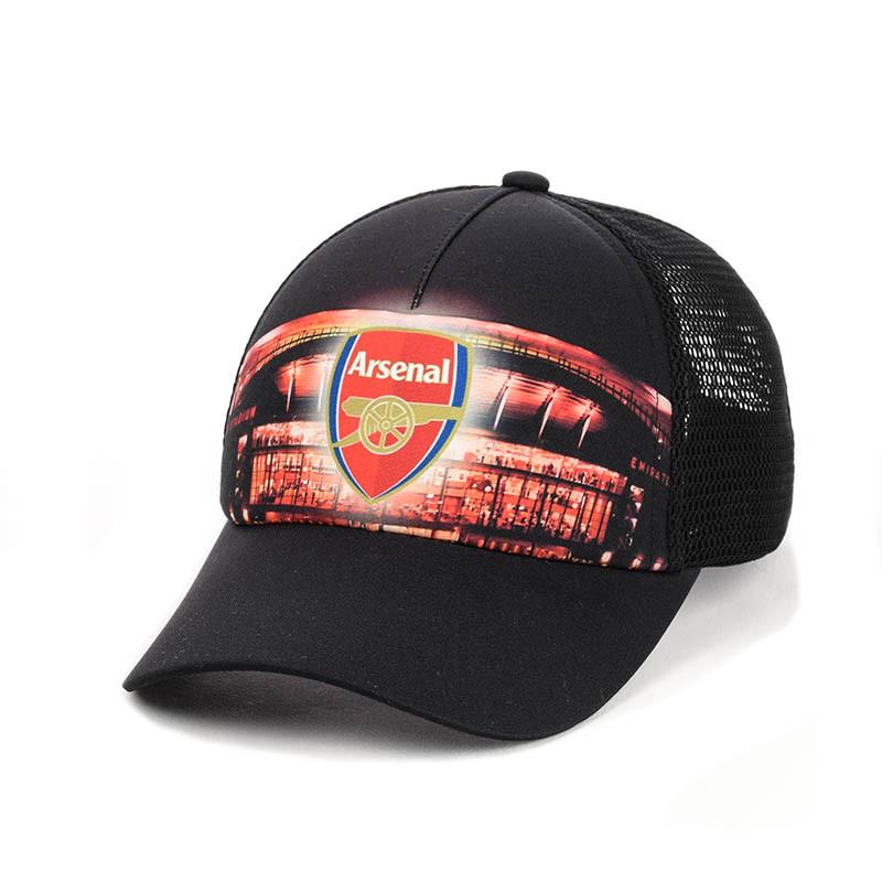 """Бейсболка  """"Arsenal"""" с черной сеткой"""
