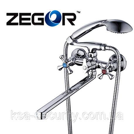Смеситель для ванны ZEGOR DAK7-А827 (Зегор) (TROYA)